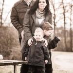 Familienfoto vor Hochzeit