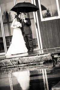 Hochzeitsreportage bei Regen