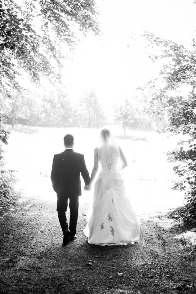 Brautpaar Fotos in der Natur