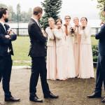 Fotos Hochzeitspaar mit Trauzeugen