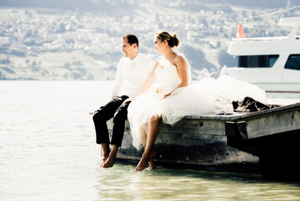 Hochzeitsfotos Brautpaar Hallwilersee