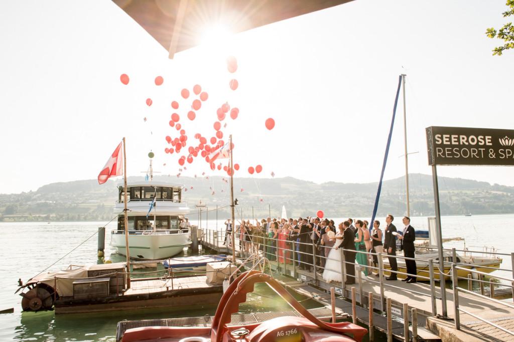 Luftballons Hochzeit Meisterschwanden Hallwilersee