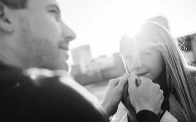 Foto-Shooting zur Verlobung von Andrea und Marco in Zürich
