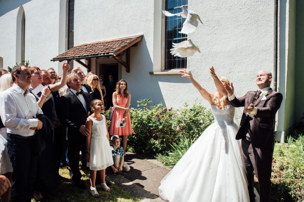 Tauben fliegen lassen Hochzeit