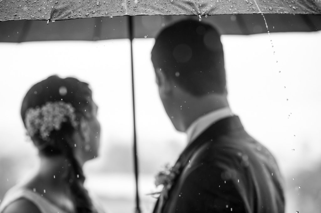 Hochzeitsfotos Regen