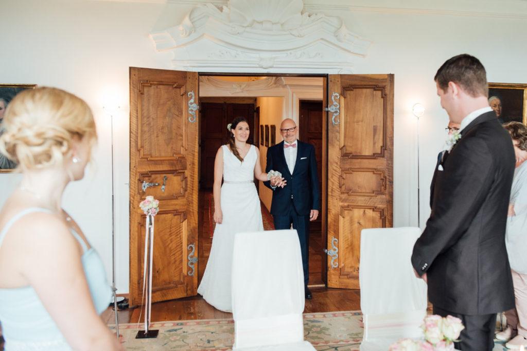 Hochzeit Schloss Heidegg Brautvater