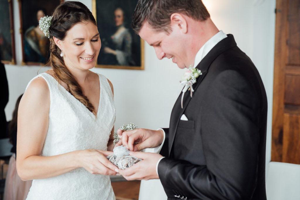 Ringtausch Hochzeit Schloss Heidegg