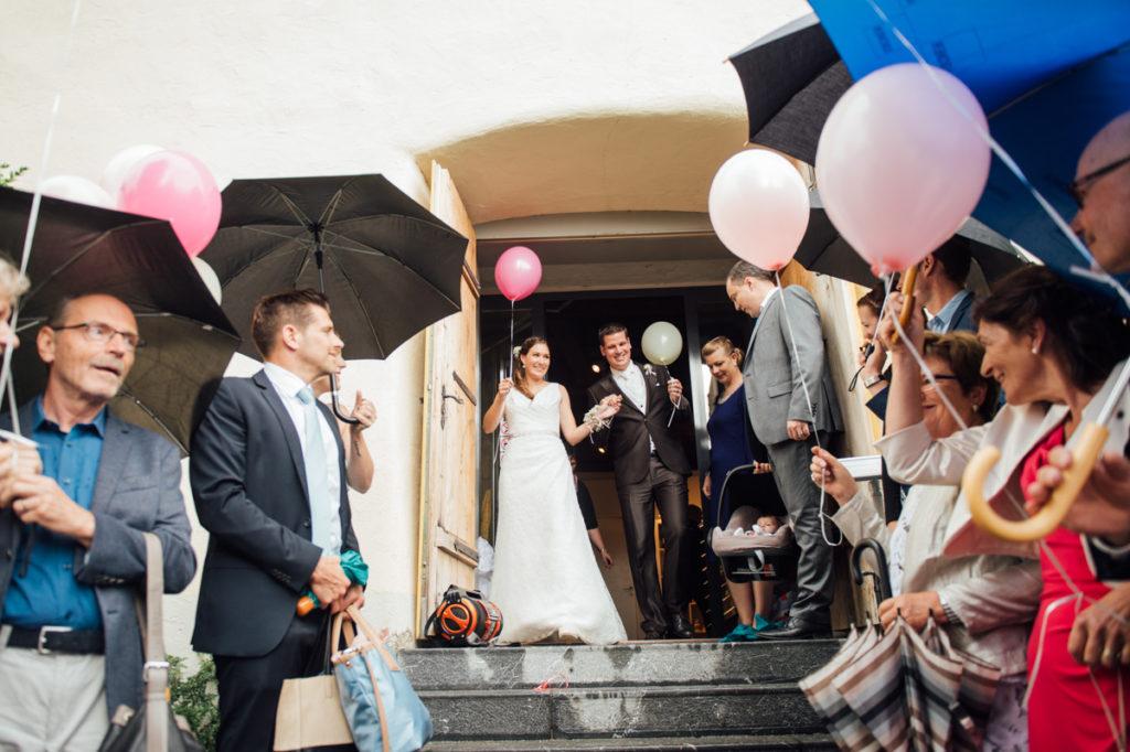 Spalier Hochzeit Schloss Heidegg