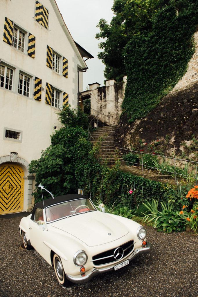 Oldtimer Hochzeit Schloss Heidegg