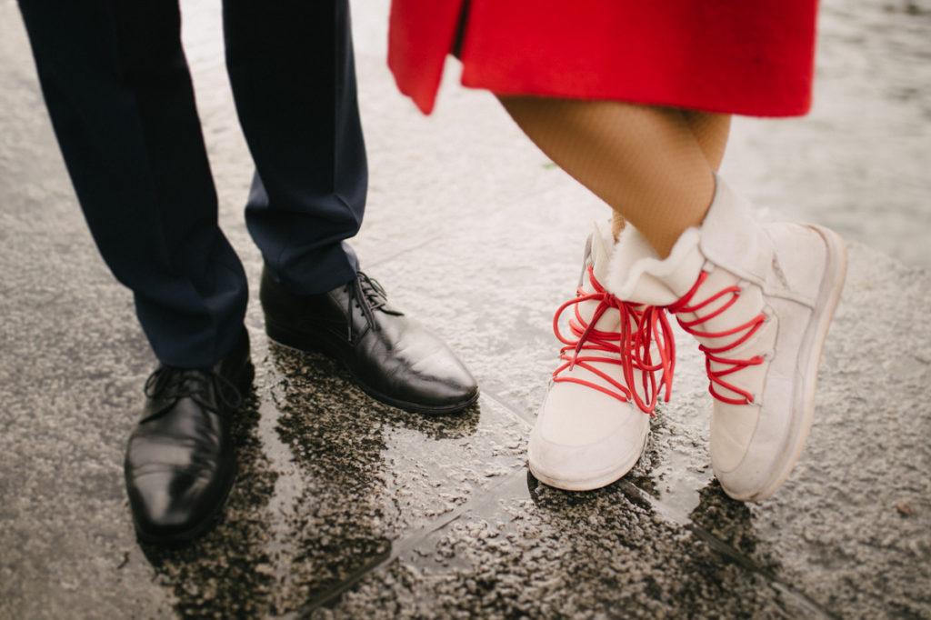 Winter Hochzeit Braut Schuhe