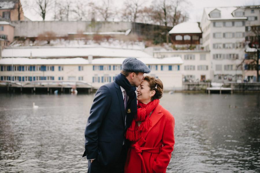Hochzeit im Winter Zuerich