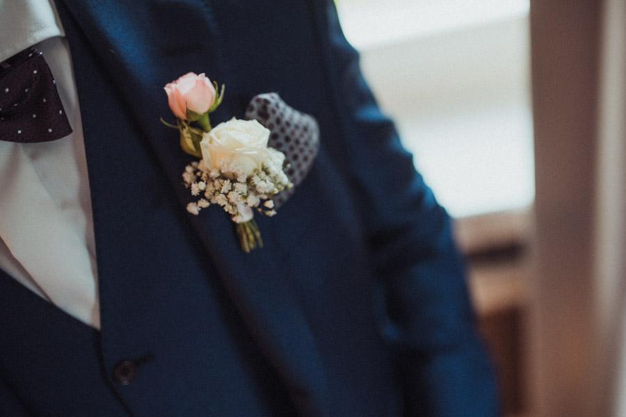 Bräutigam Blumenschmuck