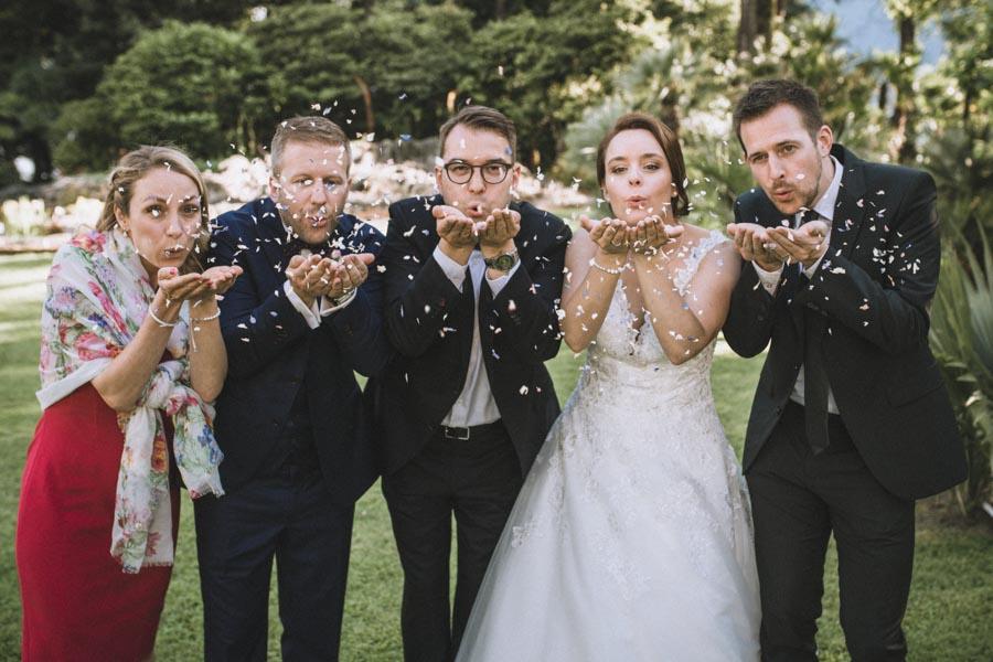 Hochzeitsgäste Apero Isole di Brissago