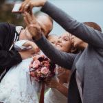 Selfie bei Hochzeit