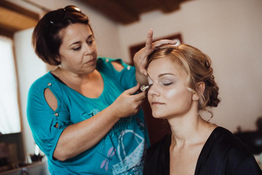 Vorbereitungen Make Up Braut