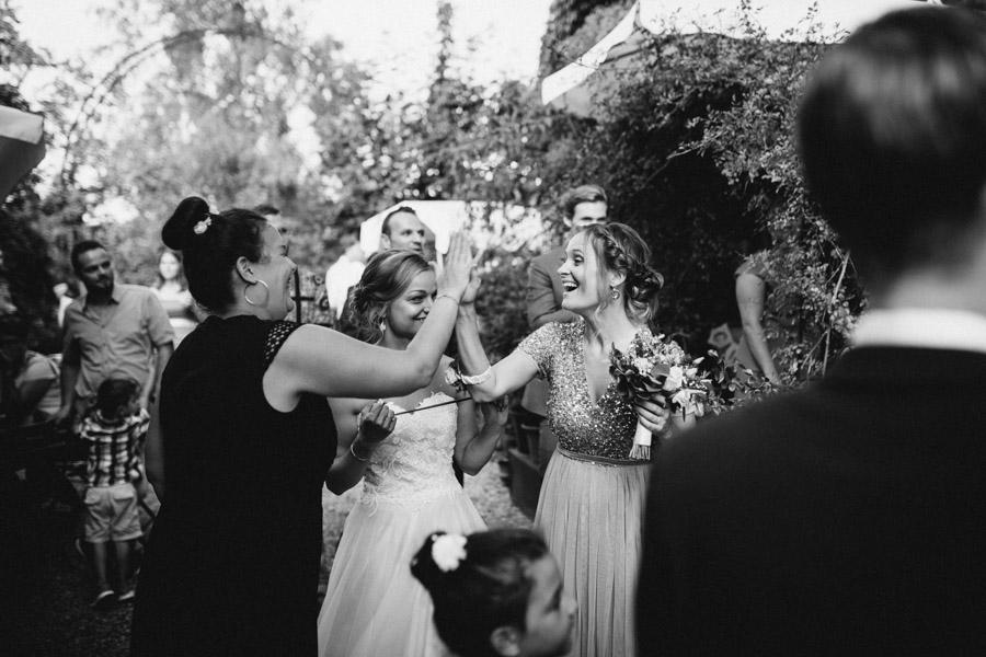 Team Braut gewinnt Hochzeitsspiel
