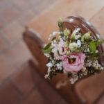 Blumendekoration bei Hochzeit