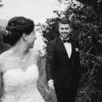 schwarzweiss Hochzeitsfoto