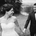 Hochzeitsfoto schwarzweiss