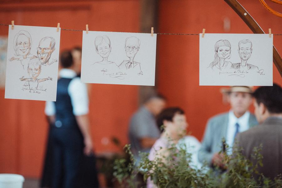 Hochzeitsapero Schnellzeichner