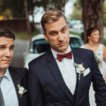Trauzeuge und Bräutigam