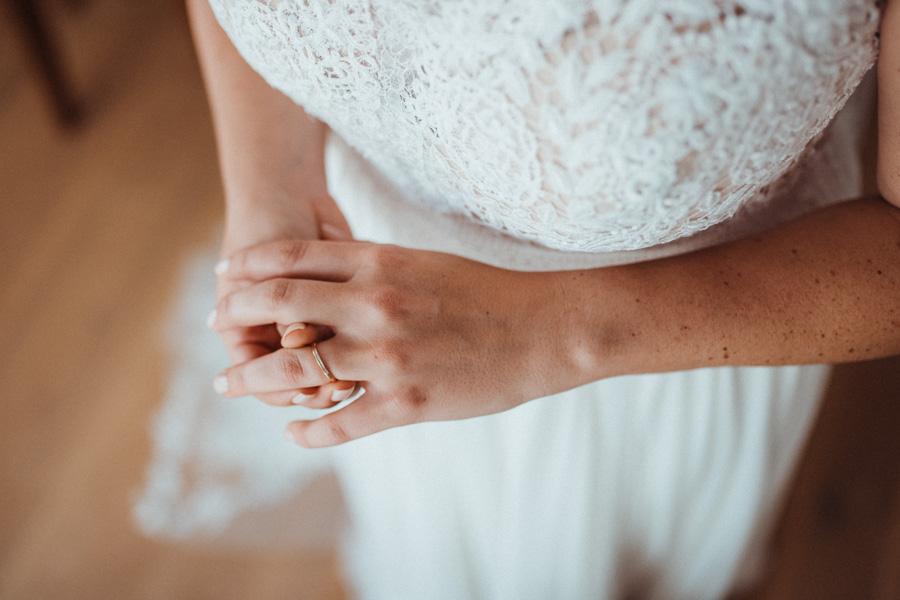Verlobungsring Braut Getting Hochzeitsfotos