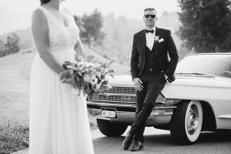 Hochzeit Fotoshooting mit Oldtimer