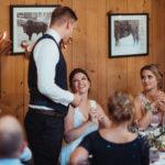 Braut und Bräutigam bei Hochzeit