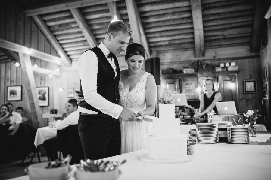 Hochzeitstorte Anschnitt