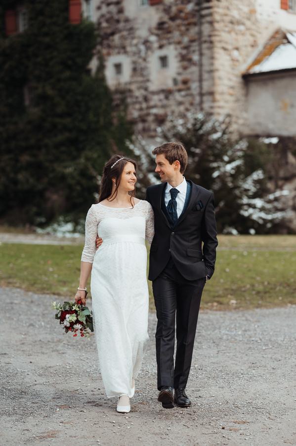 Hochzeitsfotoshooting am Schloss Greifensee