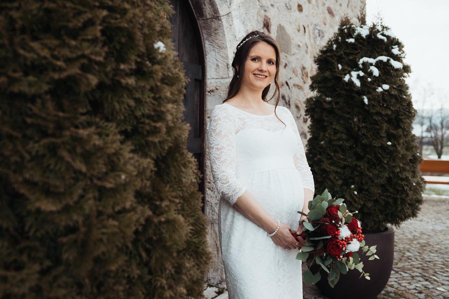 Braut bei Hochzeit